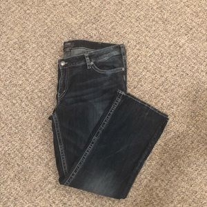 Plus silver jeans